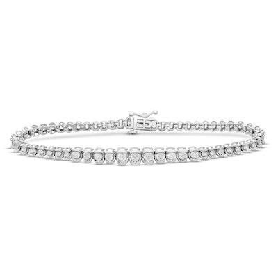 Diamond Bracelet 2 Ct 14K White Gold