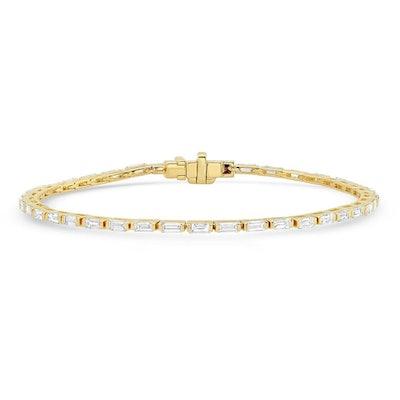 Diamond Baguette 14K Gold Tennis Bracelet