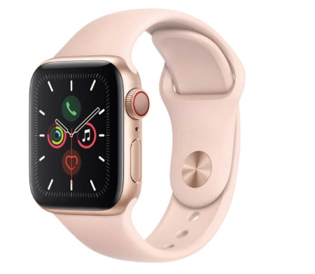 Apple Watch Series 5 GPS + Cellular, 40mm, With Pink Sand Sport Band, Gold