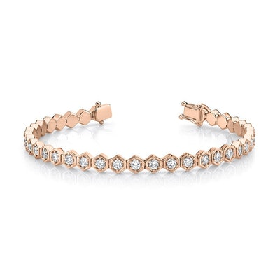 Honeycomb Diamond Tennis Bracelet