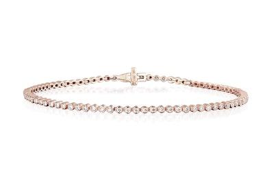 Diamond Bezel Eternity Bracelet