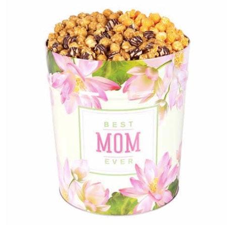 Popcornopolis 3.5 Gallon Popcorn Tin: Caramel, Cheddar, and Zebra