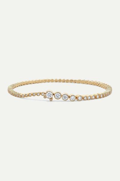 Classic Tennis 18-Karat Gold Diamond Bracelet