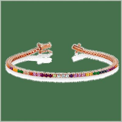 Perfect Rainbow Tennis Bracelet