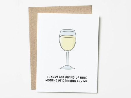 Wine Mother's Day Card