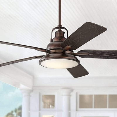 Casa Vieja Industrial Outdoor Ceiling Fan with Light