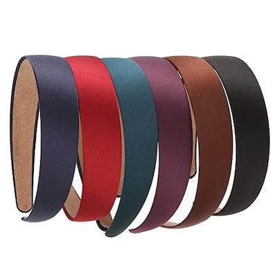 LONEEDY Non-Slip Ribbon Headbands (6-Pack)