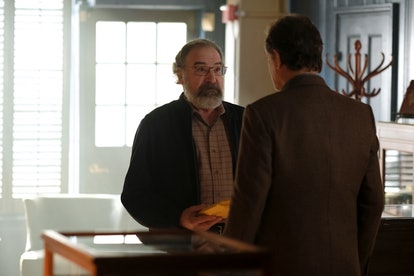 Mandy Patinkin as Saul Berenson and Jon Lindstrom as Claude Morady in Showtime's Homeland