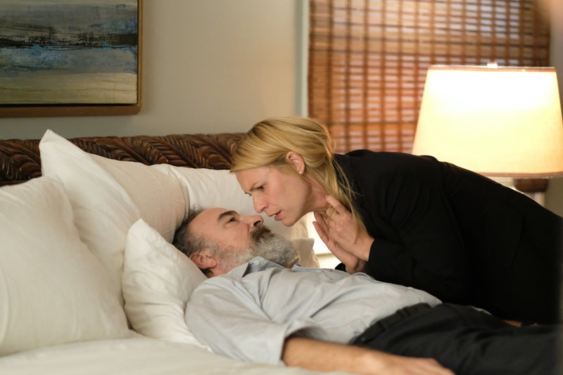 Mandy Patinkin as Saul Berenson and Claire Danes as Carrie Mathison in Homeland on Showtime