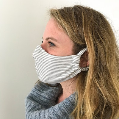 Organic Cotton/Bamboo Striped Face Masks