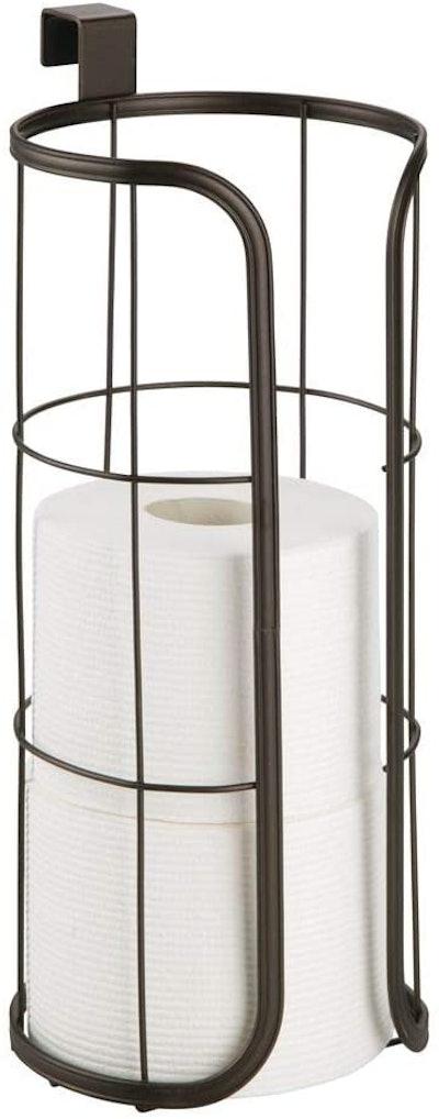 mDesign Modern Over-The-Tank Hanging Toilet Tissue Holder