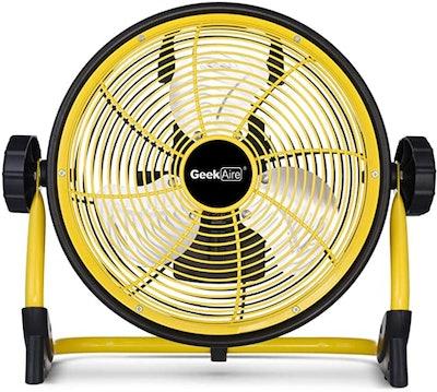 Geek Aire Rechargeable Outdoor High Velocity Floor Fan