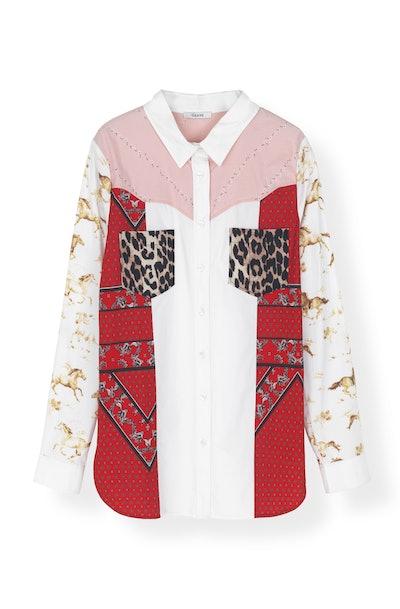 Mixed Cotton Poplin Shirt