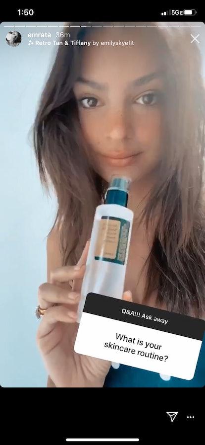 Emily Ratajkowski skincare routine includes COSRX's Advanced Snail 96 Mucin Power Essence
