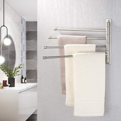 KES 4-Arm Stainless Steel Towel Bar