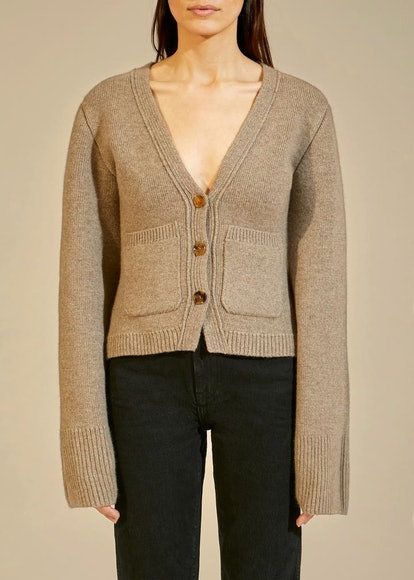 The Scarlet Cardigan In Barley