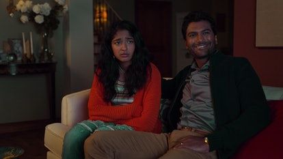Devi and her dad Mohan watching John McEnroe's match in Never Have I Ever.