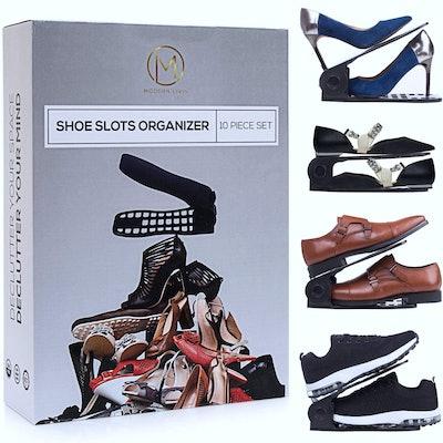 Shoe Slots Organizer 10-Piece Set