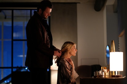Costa Ronin as Yevgeny and Claire Danes as Carrie Mathison in Homeland on Showtime