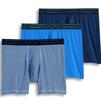 Jockey Men's Underwear Active Microfiber Midway Brief - 3 Pack