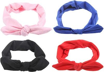 Criss Cross Soft Headbands (4-Pack)