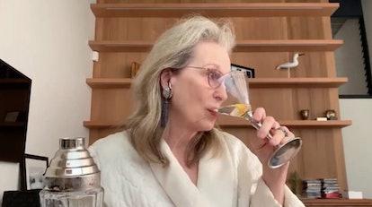 Meryl Streep drinking Meme, Sondheim performance