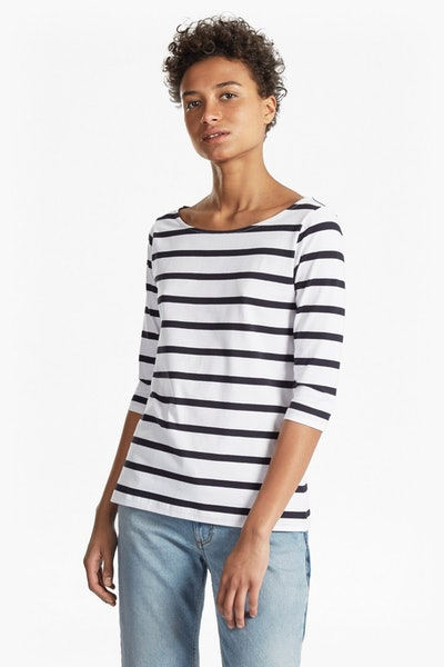 Tim Tim Stripe Sleeve Top