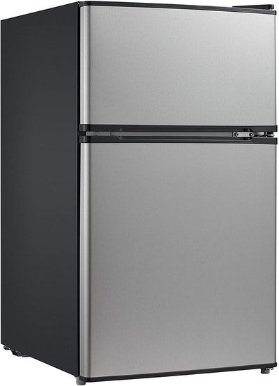 Midea Stainless Steel Compact Refrigerator With Freezer