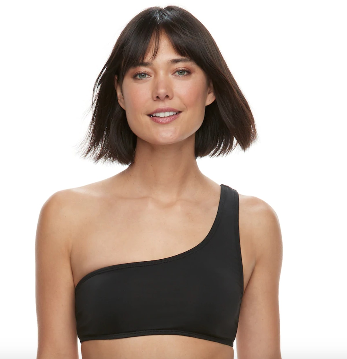 Women's Apt. 9® One Shoulder Crop Bikini Top