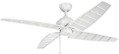 Kichler Surrey Outdoor Ceiling Fan With Pull Chain