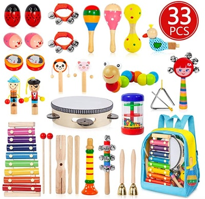 AOKIWO Kids Musical Instruments (33 Pieces)