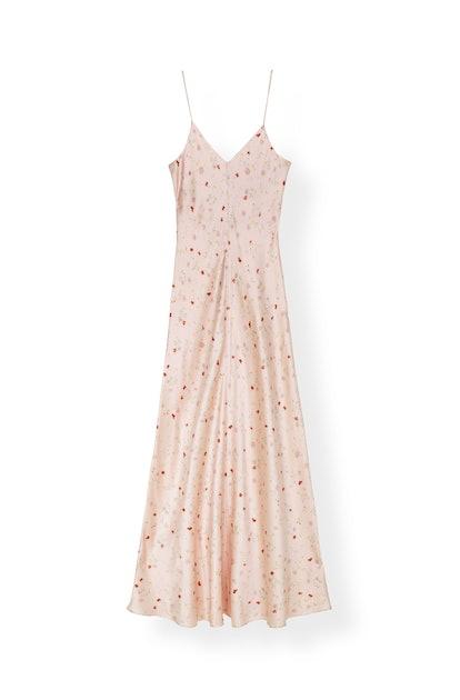 Silk Stretch Satin Slip Dress