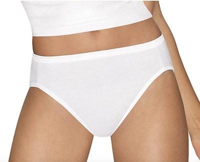 Hanes Ultimate Comfort Cotton Hi-Cut Panties (5 Pack)