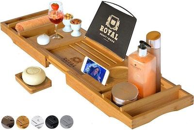 Royal Craft Wood Natural Bamboo Bathtub