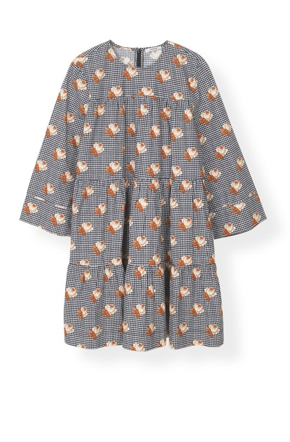 Printed Poplin Mini Dress
