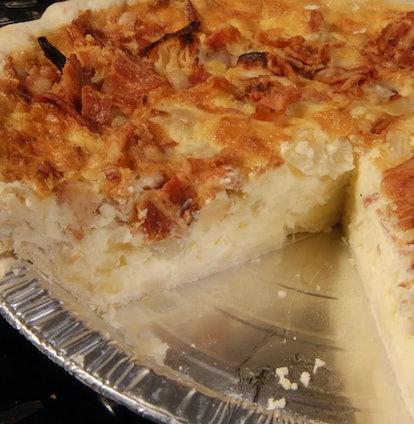 Bacon Onion Gruyere Quiche