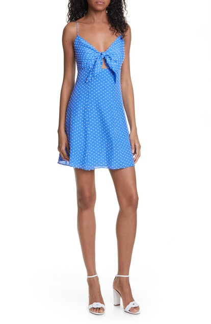 Roe Tie Front Cocktail Dress