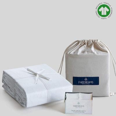 Fabdreams 100% Organic Cotton Sheet Set (Queen)