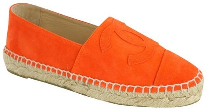 Orange Suede Cruise Espadrilles