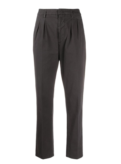 Cropped Straight-Leg Chinos