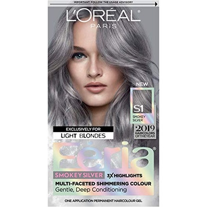 Hair Color Feria Multi-faceted Shimmering Permanent Coloring, Smokey Silver