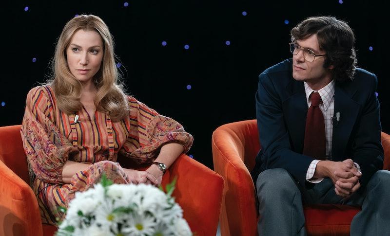 Ari Graynor as Brenda Feigen-Fasteau and Adam Brody as Marc Feigen-Fasteau in 'Mrs. America' Episode 5.