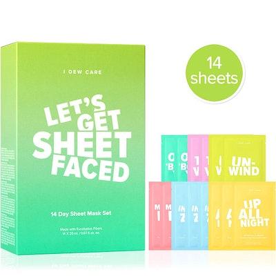 Let's Get Sheet Faced Sheet Mask Set (14-Pack)