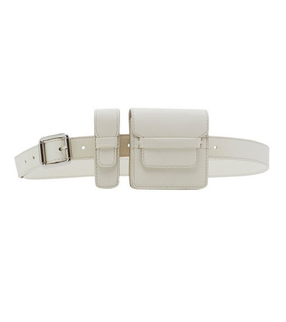 Coin Belt in White