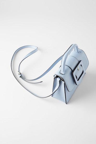 Zara Animal Embossed Multi-Position Buckle Crossbody Bag