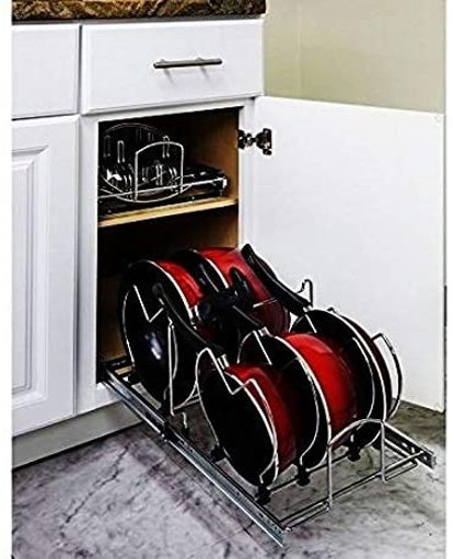 Hardware Resources Silver Pots and Pans Drawer Organizer