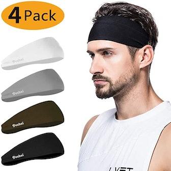 Poshei Mens Headband (4-Pack)