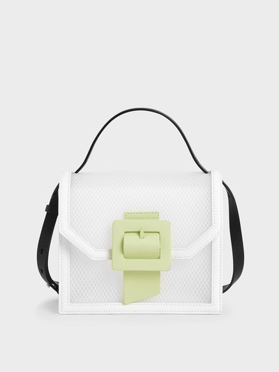 Charles & Keith See-Through Effect Buckled Bag