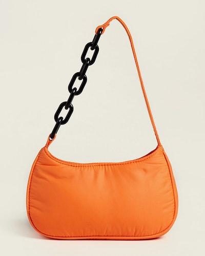 Studio 33 Woke Newbie Mini Baguette Nylon Shoulder Bag