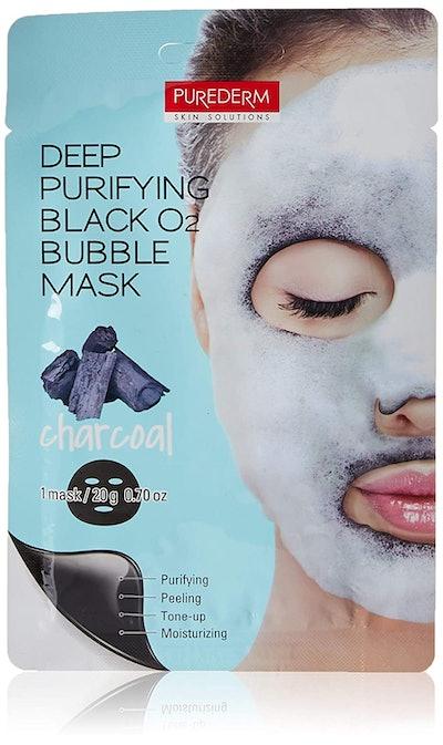 Purederm Deep Purifying Black O2 Bubble Mask